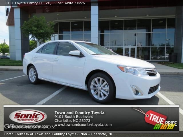 super white 2013 toyota camry xle v6 ivory interior. Black Bedroom Furniture Sets. Home Design Ideas