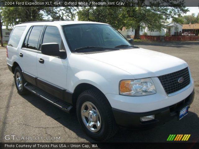 oxford white 2004 ford expedition xlt 4x4 medium flint. Black Bedroom Furniture Sets. Home Design Ideas