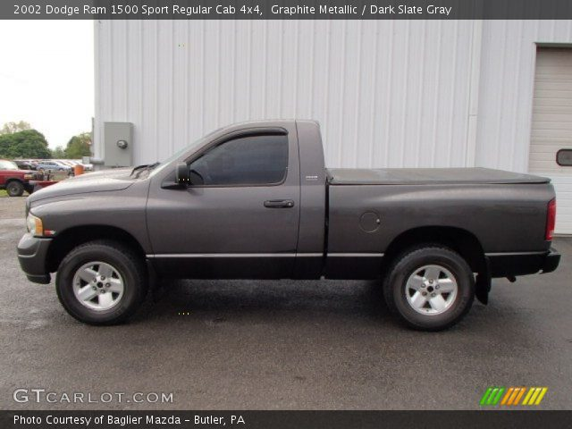 graphite metallic 2002 dodge ram 1500 sport regular cab 4x4 dark slate gray interior. Black Bedroom Furniture Sets. Home Design Ideas