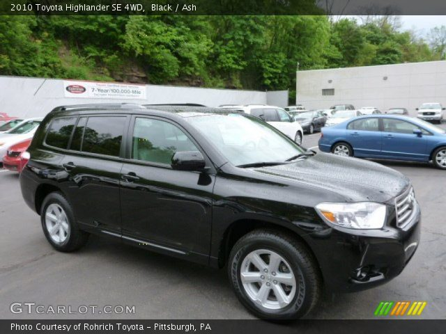black 2010 toyota highlander se 4wd ash interior. Black Bedroom Furniture Sets. Home Design Ideas
