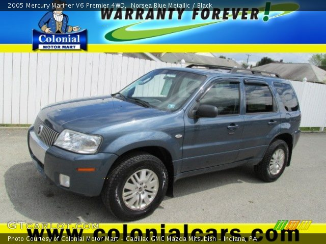 norsea blue metallic 2005 mercury mariner v6 premier 4wd. Black Bedroom Furniture Sets. Home Design Ideas