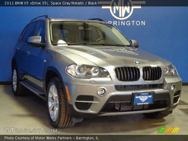space gray metallic 2011 bmw x5 xdrive 35i black interior vehicle archive. Black Bedroom Furniture Sets. Home Design Ideas