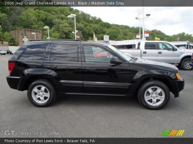 Black 2006 Jeep Grand Cherokee Laredo 4x4 Medium Slate Gray Interior