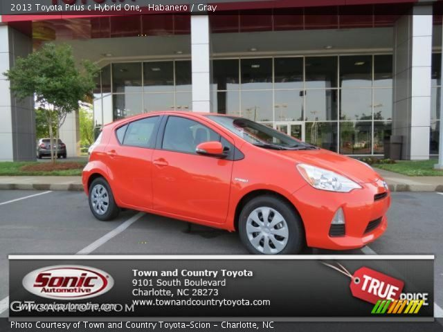 habanero 2013 toyota prius c hybrid one gray interior vehicle archive 80970682. Black Bedroom Furniture Sets. Home Design Ideas