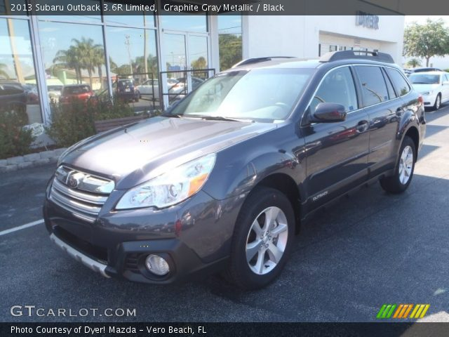 graphite gray metallic 2013 subaru outback 3 6r limited black interior. Black Bedroom Furniture Sets. Home Design Ideas