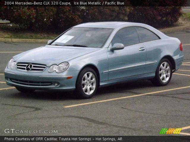 ice blue metallic 2004 mercedes benz clk 320 coupe pacific blue interior. Black Bedroom Furniture Sets. Home Design Ideas