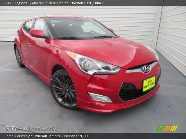 boston red 2013 hyundai veloster re mix edition black interior vehicle. Black Bedroom Furniture Sets. Home Design Ideas
