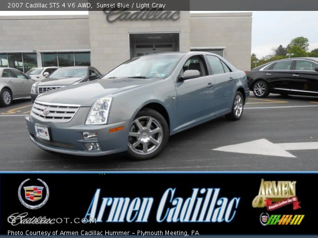 2007 Cadillac STS 4 V6 AWD in Sunset Blue
