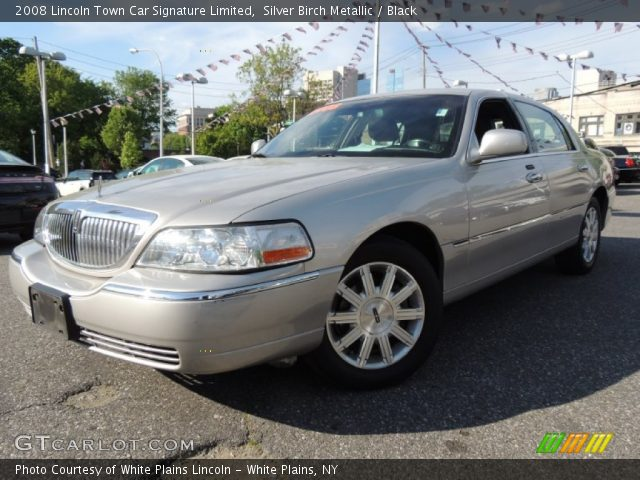 silver birch metallic 2008 lincoln town car signature. Black Bedroom Furniture Sets. Home Design Ideas