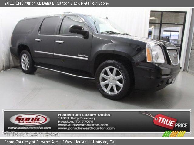 carbon black metallic 2011 gmc yukon xl denali ebony interior vehicle. Black Bedroom Furniture Sets. Home Design Ideas