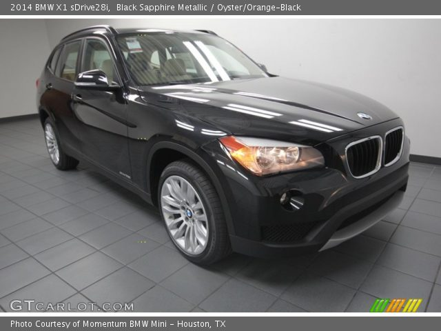 black sapphire metallic 2014 bmw x1 sdrive28i oyster orange black interior. Black Bedroom Furniture Sets. Home Design Ideas