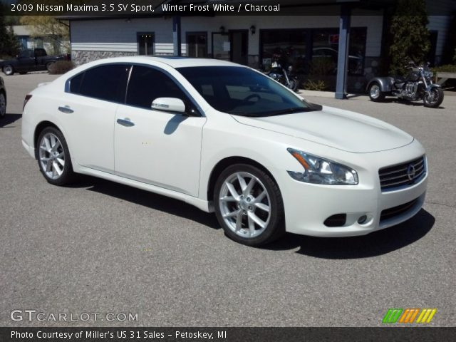 Winter Frost White 2009 Nissan Maxima 35 Sv Sport Charcoal