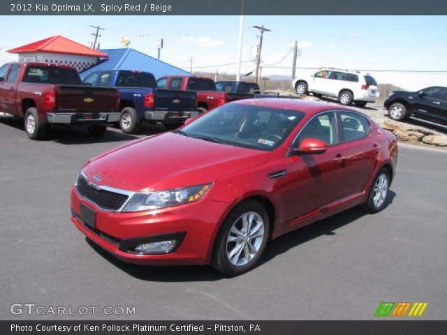 spicy red 2012 kia optima lx beige interior vehicle archive 81127905. Black Bedroom Furniture Sets. Home Design Ideas