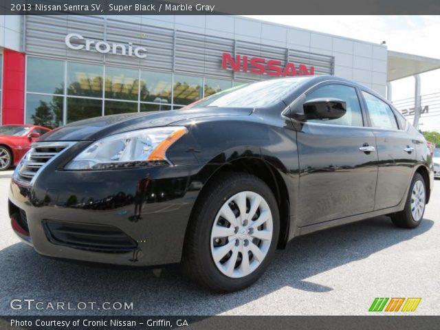 Super Black 2013 Nissan Sentra Sv Marble Gray Interior