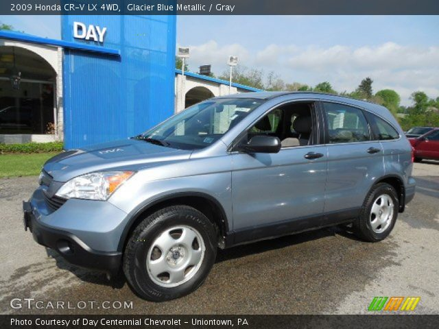 glacier blue metallic 2009 honda cr v lx 4wd gray interior vehicle archive. Black Bedroom Furniture Sets. Home Design Ideas