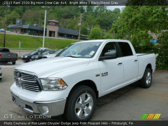 bright white 2013 ram 1500 big horn crew cab 4x4 black diesel gray interior. Black Bedroom Furniture Sets. Home Design Ideas