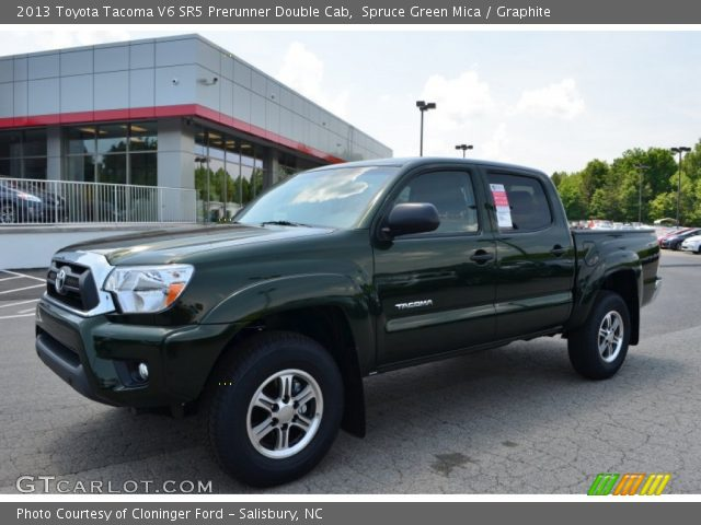 spruce green mica 2013 toyota tacoma v6 sr5 prerunner double cab graphite interior. Black Bedroom Furniture Sets. Home Design Ideas
