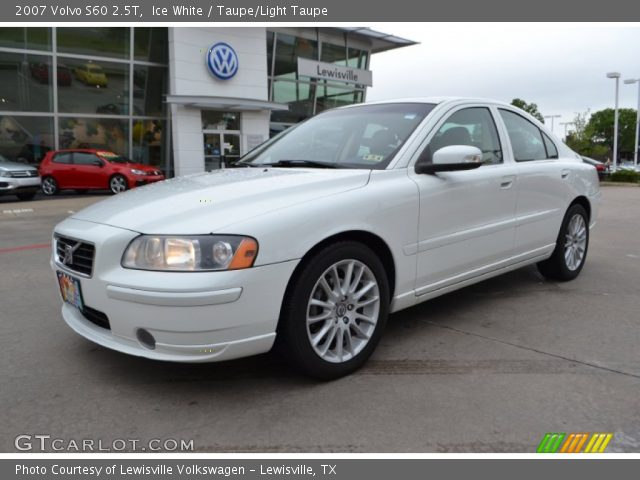ice white 2007 volvo s60 2 5t taupe light taupe interior vehicle archive. Black Bedroom Furniture Sets. Home Design Ideas