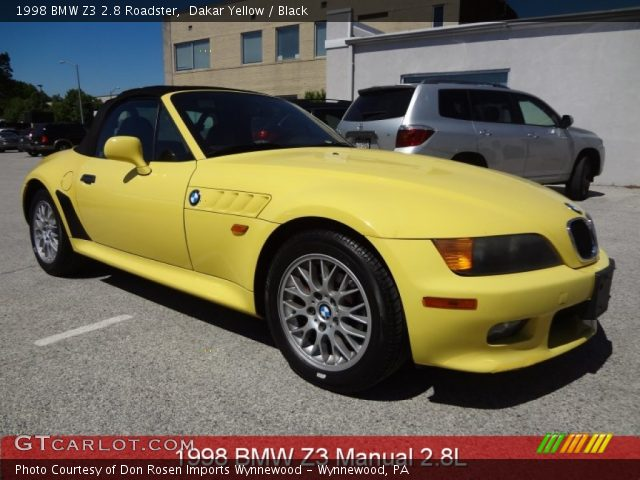 Dakar Yellow 1998 Bmw Z3 2 8 Roadster Black Interior