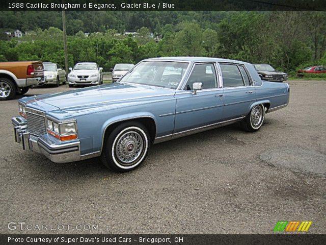 1988 Cadillac Brougham d Elegance in Glacier Blue