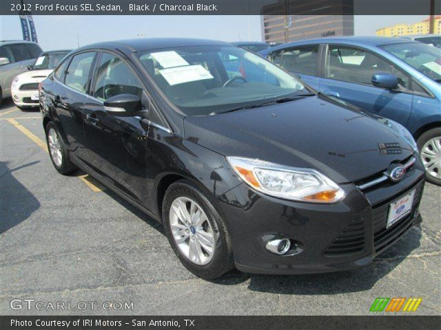 black 2012 ford focus sel sedan charcoal black interior vehicle archive. Black Bedroom Furniture Sets. Home Design Ideas