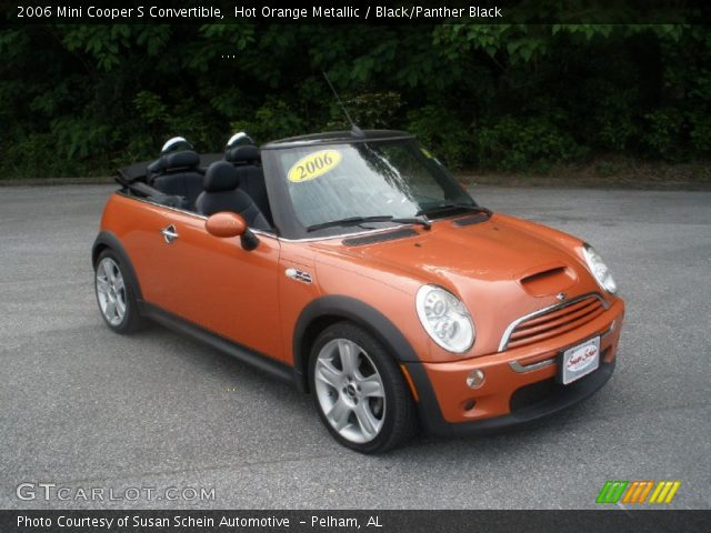 hot orange metallic 2006 mini cooper s convertible black panther black interior gtcarlot. Black Bedroom Furniture Sets. Home Design Ideas