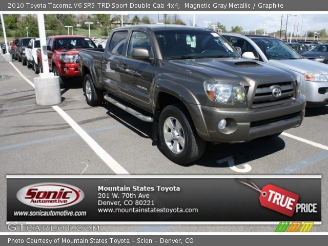 magnetic gray metallic 2010 toyota tacoma v6 sr5 trd sport double cab 4x4 graphite interior. Black Bedroom Furniture Sets. Home Design Ideas