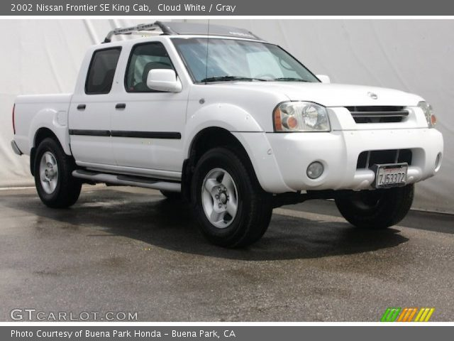Cloud White 2002 Nissan Frontier Se King Cab Gray Interior Vehicle Archive