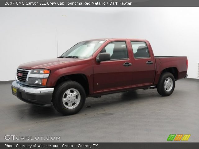 sonoma red metallic 2007 gmc canyon sle crew cab dark. Black Bedroom Furniture Sets. Home Design Ideas