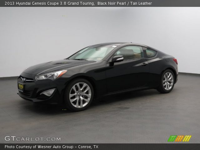 black noir pearl 2013 hyundai genesis coupe 3 8 grand touring tan leather interior. Black Bedroom Furniture Sets. Home Design Ideas