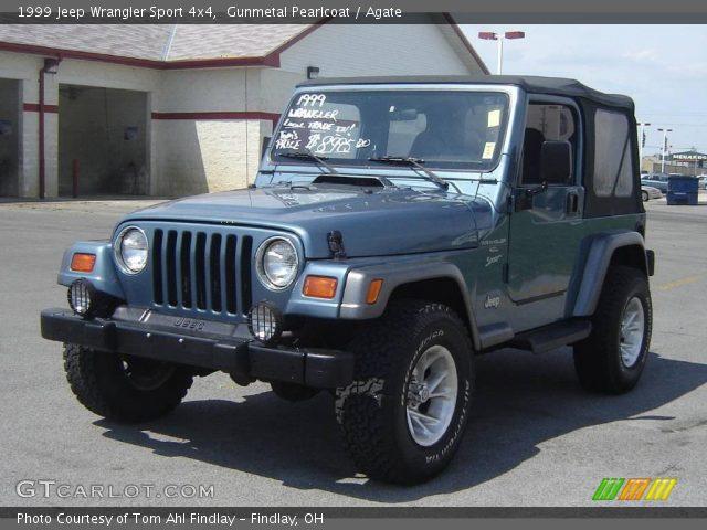 gunmetal pearlcoat 1999 jeep wrangler sport 4x4 agate. Black Bedroom Furniture Sets. Home Design Ideas