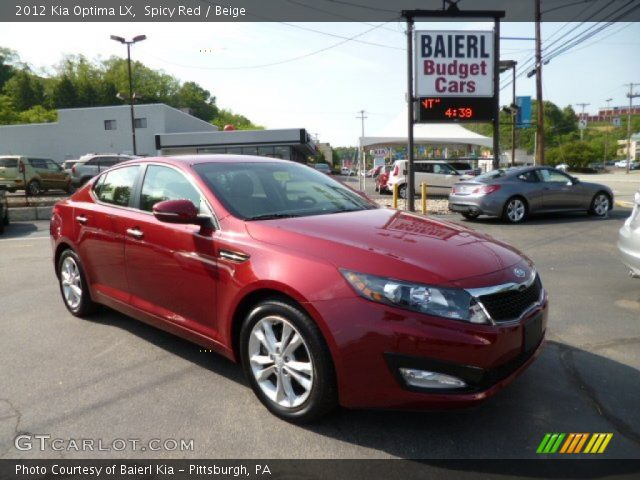 spicy red 2012 kia optima lx beige interior vehicle archive 81349447. Black Bedroom Furniture Sets. Home Design Ideas