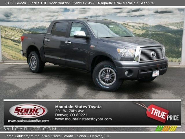 magnetic gray metallic 2013 toyota tundra trd rock warrior crewmax 4x4 graphite interior. Black Bedroom Furniture Sets. Home Design Ideas