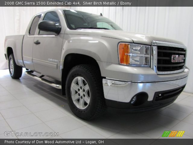 silver birch metallic 2008 gmc sierra 1500 extended cab. Black Bedroom Furniture Sets. Home Design Ideas