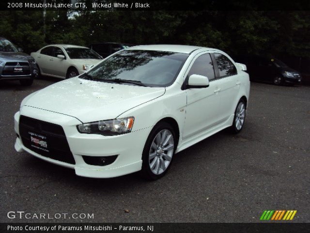 wicked white 2008 mitsubishi lancer gts black interior vehicle archive. Black Bedroom Furniture Sets. Home Design Ideas