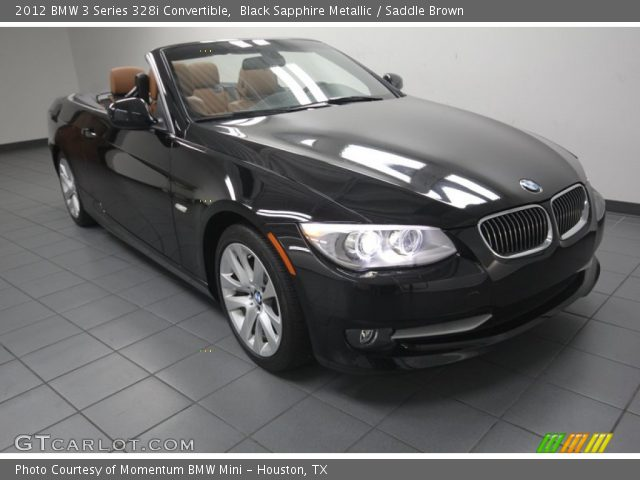 black sapphire metallic 2012 bmw 3 series 328i convertible saddle brown interior gtcarlot. Black Bedroom Furniture Sets. Home Design Ideas