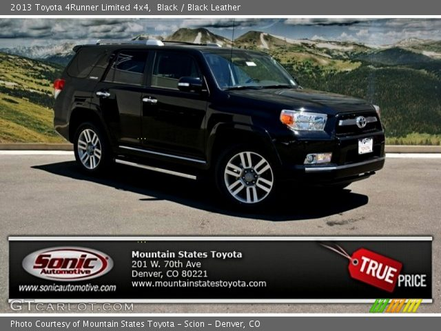 Black 2013 Toyota 4runner Limited 4x4 Black Leather Interior Vehicle