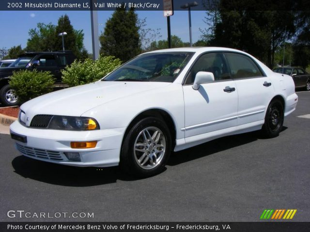 Vail White 2002 Mitsubishi Diamante LS with Black/Gray interior 2002