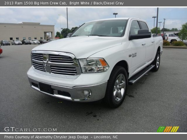 bright white 2013 ram 1500 big horn crew cab black diesel gray interior. Black Bedroom Furniture Sets. Home Design Ideas