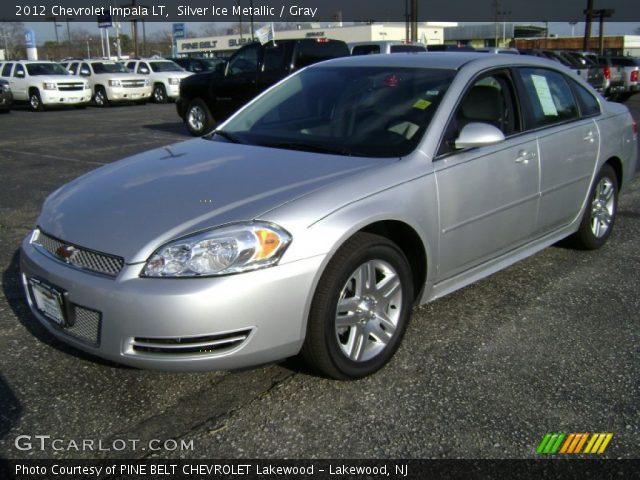 silver ice metallic 2012 chevrolet impala lt gray. Black Bedroom Furniture Sets. Home Design Ideas