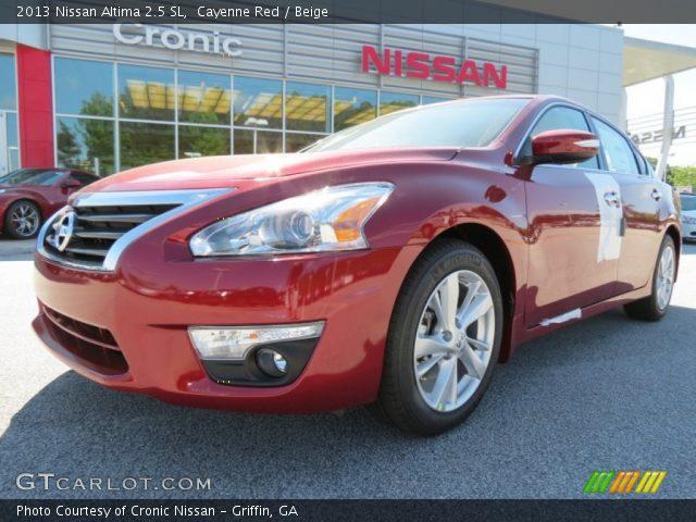 cayenne red 2013 nissan altima 2 5 sl beige interior vehicle archive 81455365. Black Bedroom Furniture Sets. Home Design Ideas