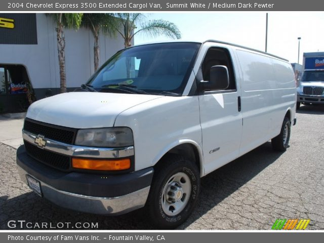 summit white 2004 chevrolet express 3500 extended cargol. Black Bedroom Furniture Sets. Home Design Ideas