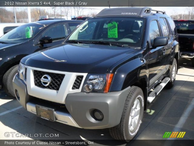 super black 2012 nissan xterra s 4x4 gray interior vehicle archive 81502504. Black Bedroom Furniture Sets. Home Design Ideas