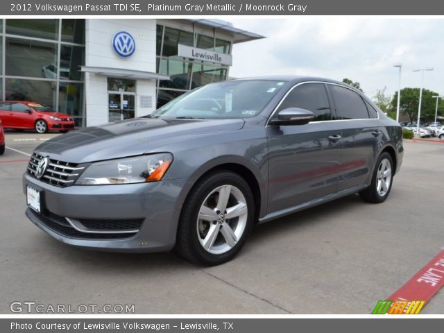 platinum gray metallic 2012 volkswagen passat tdi se moonrock gray interior. Black Bedroom Furniture Sets. Home Design Ideas
