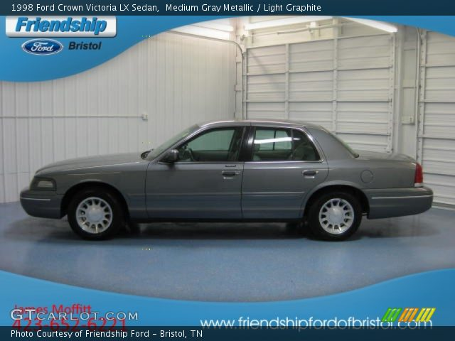 Medium Gray Metallic 1998 Ford Crown Victoria Lx Sedan Light Graphite Interior Gtcarlot