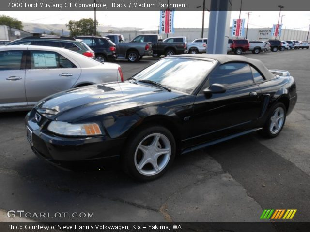 black 2000 ford mustang gt convertible medium. Black Bedroom Furniture Sets. Home Design Ideas