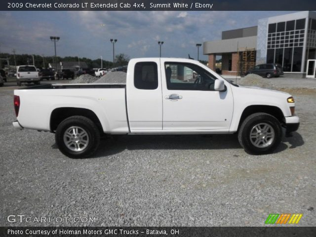 summit white 2009 chevrolet colorado lt extended cab 4x4 ebony interior. Black Bedroom Furniture Sets. Home Design Ideas