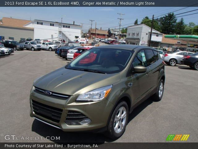 ginger ale metallic 2013 ford escape se 1 6l ecoboost 4wd medium light stone interior. Black Bedroom Furniture Sets. Home Design Ideas