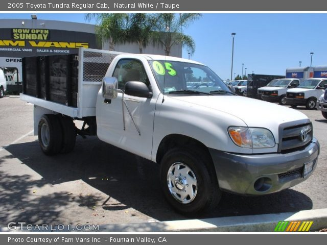 natural white 2005 toyota tundra regular cab taupe interior vehicle archive. Black Bedroom Furniture Sets. Home Design Ideas