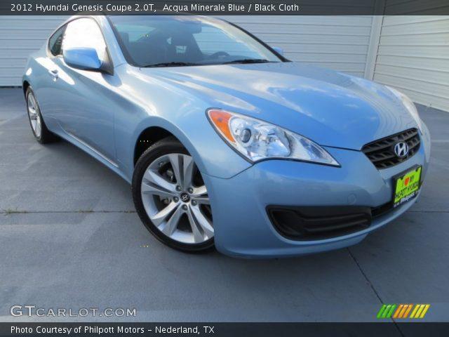 2012 Hyundai Genesis 2.0 T >> Acqua Minerale Blue - 2012 Hyundai Genesis Coupe 2.0T - Black Cloth Interior | GTCarLot.com ...
